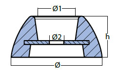 00101UK Disc Anode Technical Drawing