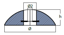 00105UK Disc Anode Technical Drawing