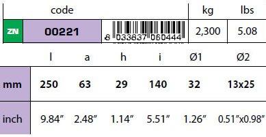 00221: 2.3kg Bolt On Plate VET Hull Anode Technical Specifications