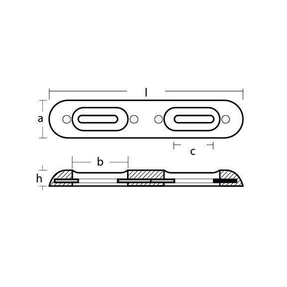 00270E Bolt On Bar Fairline Hull Anode technical specifications