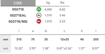 00271E Bolt On Bar Fairline Hull Anode size