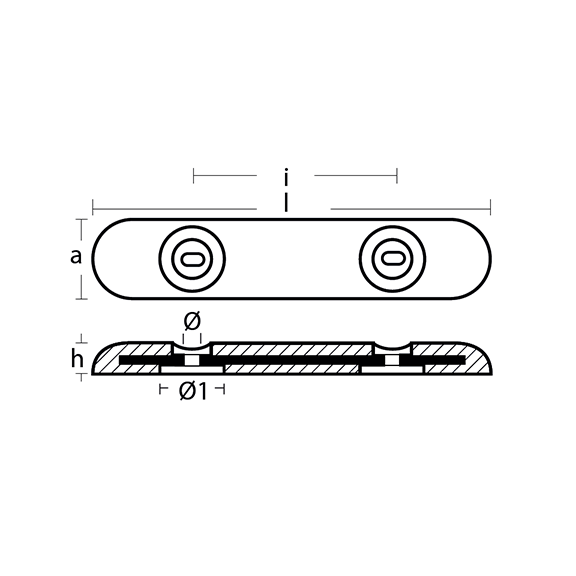 00272E Zinc Bolt On Bar Fairline-Sunseeker Hull Anode technical specifications