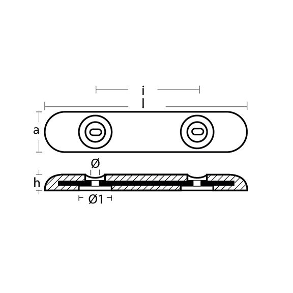 00273 Bolt On Bar Fairline-Sunseeker Hull Anode technical specifications