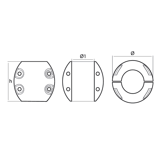00500USA 4 hole series technical specifications