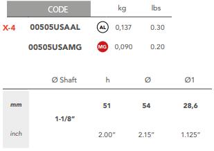 00505USA 1 1/8″ Egg Type USA Shaft Anode X-4 size