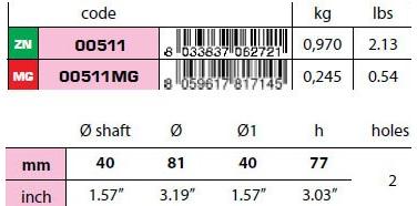 00511 40mm Egg Type Standard Shaft Anode size