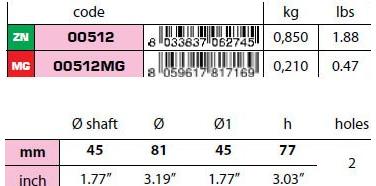 00512 45mm Egg Type Standard Shaft Anode size