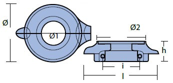 00734 Volvo Anode Technical Drawing