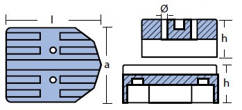 00806 Mercury Anode Technical Drawing