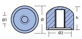 00807 Mercury Anode Technical Drawing