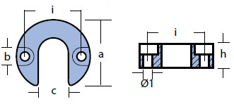 00817 Mercury Anode Technical Drawing