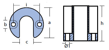 00818 Mercury Anode Technical Drawing