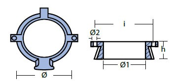 00819 Mercury Anode Technical Drawing