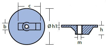 00820 Mercury Anode Technical Drawing