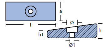 00825 Mercury Anode Technical Drawing