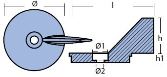 00827 Mercury Anode Technical Drawing
