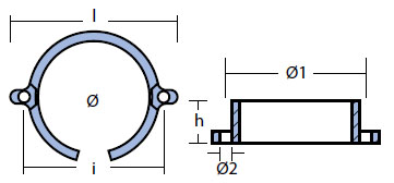 00828 Mercury Anode Technical Drawing