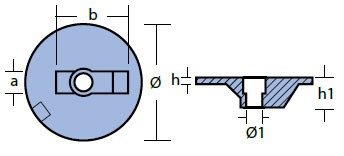 00835 Mercury Anode Technical Drawing