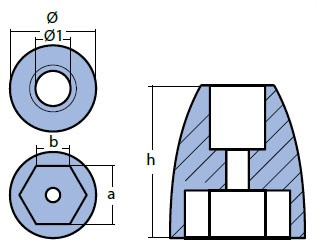00836 Mercury Anode Technical Drawing