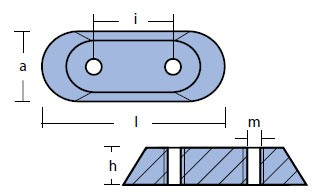 00912 Johnson Anode Technical Drawing