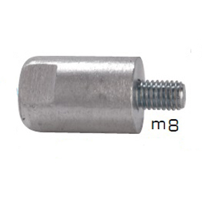 01301: Pencil Anode for Yanmar 8-12 HP Diameter 20mm x Length 30mm
