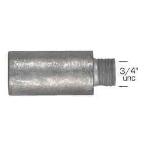 02026: Pencil Anode for Caterpillar Diameter 28mm x Length 55mm