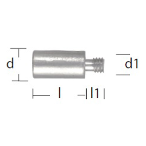 02042: Pencil Anode for Cummins Diameter 10mm x Length 20mm