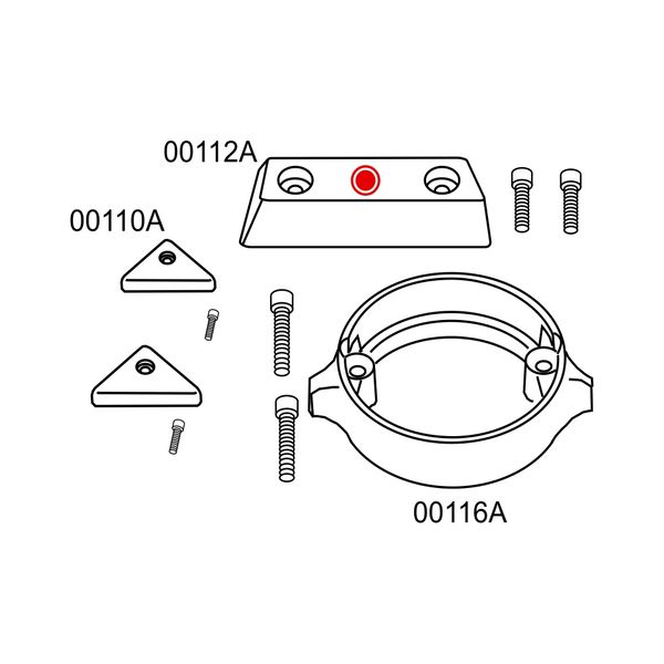 10277A Volvo Penta 290 Duo Prop Complete Anode Kit (2-24277A)
