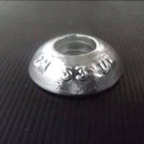 AL53uk 0.098kg Aluminium Bolt On Hull Anode 60mm Diameter