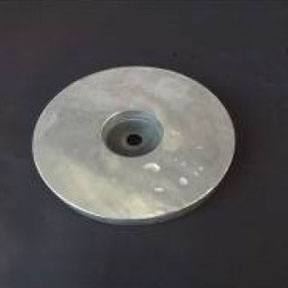 AL61uk 1.5kg Aluminium Bolt On Hull Anode 165mm Diameter