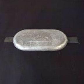 AL73wuk 5.0kg Aluminium Weld On Hull Anode