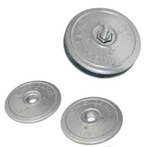 00104E: 130mm Disc Rudder Anode (pair)