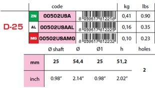 00502USA: 25mm Egg Type USA Shaft Anode D-25 size