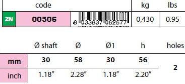 00506: 30mm Egg Type Standard Shaft Anode size