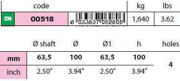 "00518: 2 1/2"" Egg Type Standard Shaft Anode size"