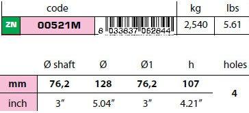 "00521M: 3"" Egg Type Standard Shaft Anode size"
