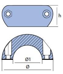 00550 Series Shaft Collar Anode Hydrodynamic Design tech