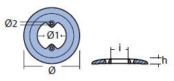 01450: Boiler Collar Anode Technical Drawing