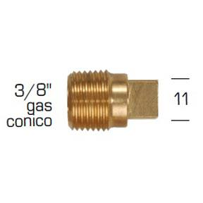 "02027TP: Plug for Caterpillar 3/8"" GAS CONICO - 3/8"" BSPT"