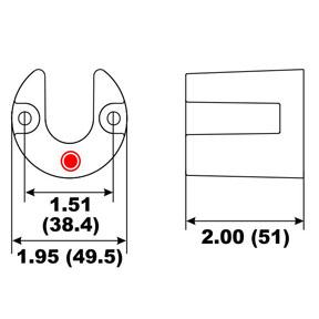 00047A Mercruiser Brave Trim Cylinder Anode (2-60818A