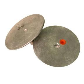 """R3750A Rudder/Trim Tab Half Flange Anode - 3 3/4"""" (95mm Dia) Pair"""