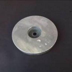 Zn55uk 7.2kg Zinc Bolt On Hull Anode 225mm Diameter