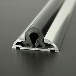 ALI 604 Boat Rub Rail Shown with PVC 1062 Insert photo angle