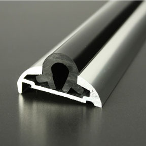 ALI 605 Boat Rub Rail Shown with PVC 1062 Insert photo angle
