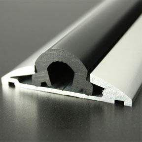 ALI 607 Boat Rub Rail Shown with PVC 1065 Insert photo angle