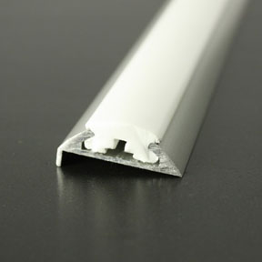 ALI 68 Boat Rub Rail Shown with PVC 1022 White Insert photo angle