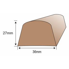 PVC 2522T Toe Rail Dimensions