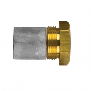 02011t AIFO-FTP Complete Zinc Pencil Anode with Brass Plug