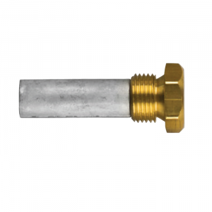 02017t AIFO-FTP Complete Zinc Pencil Anode with Brass Plug