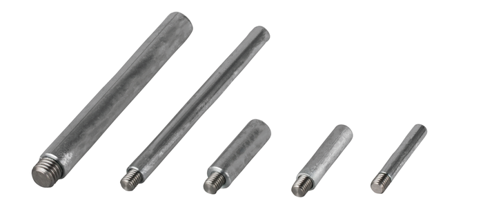 UK type pencil anode with steel insert